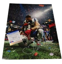 Julian Edelman New England Patriots SB 53 MVP Signed Autographed 11x14 Photo PSA