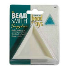 Nine (9) Beadsmith Plastic Triangle Trays for Bead Scooping & Pouring