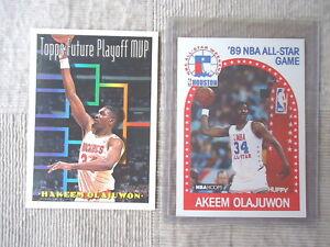 Vintage Set Of 2 Akeem Olajuwon Cards, 1,1989 NBA Hoops#178 ,1,1994 Topps #205