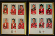 Wales Grand Slam 2005 Framed & Glazed signed Rugby Cards - 2 Frames + COA
