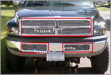 fit:1994-2001 Dodge Ram Billet Grille- Upper + Lower Bumper Combo