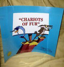 "Road Runner Warner Brothers Cel ""CHARIOTS OF FUR""Signed Chuck Jones New cell"