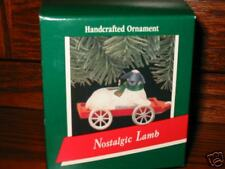 Hallmark Ornament Nostalgic Lamb on wagon 1989 MIB