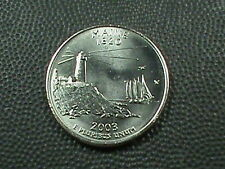 UNITED STATES   25 Cents   2003 D  UNC  MAINE