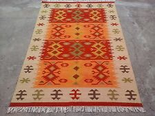 Handmade Woollen Kilim Dhurrie Hand-Woven Kelim 8x10 Turkish Oriental Area Rug