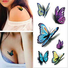 Realistic Life Like Waterproof Tattoo Butterfly Shadow Stickers Tattoos 3D Color