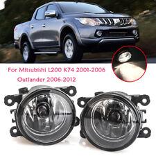 LED Fog Light Lamp For Mitsubishi L200 K74 2001-2006 Outlander 2006-2012 W/Bulbs