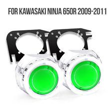 KT Halo Eye HID Projector Lens for Kawasaki Ninja 650R 2009 2011 Headlight Green