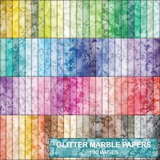 TEXTURE GLITTER LOOK MARBLE SCRAPBOOK PAPER - 100 A4 PAGES