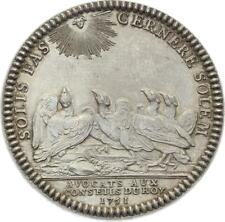 O3647 RARE Jeton Louis XIV CONSEIL ROI Avocats Conseil Roi 1751 Argent SPL