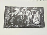 ANTIQUE ART PRINT ETCHING-LITHO-PEGGY BACON-PITY THE BLIND