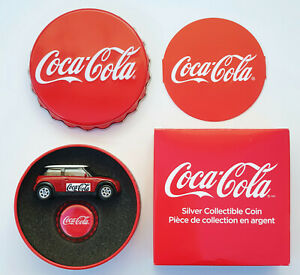 Coca-Cola Collectible .999 Silver Proof Bottle Cap $1 Coin Fiji COKE Mini 2018