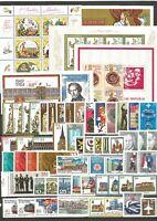 DDR  1984 postfrisch kompletter Jahrgang mit allen Einzelmarken aus Blöcke + ZD