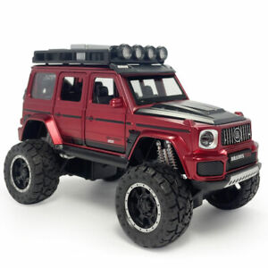 1:32 Brabus G700 SUV Big Foot Model Car Diecast Toy Vehicle Kids Pull Back Red