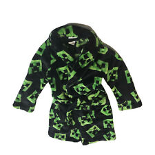 Minecraft Creeper Fleece Robe Boy's Girl's Sz 6