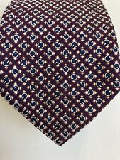 Gucci 100% Silk tie,  red, black and white check with monogram G