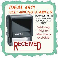 RECEIVED, 1 line, Bookkeeping Stamp, Self Ink Rubber Stamp, Trodat 4911 Red Ink