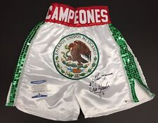 Marco Barrera And Erik Morales Signed Mexico Campeones Boxing Trunks BAS J18077