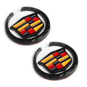 Cadillac Metal Sticker Car Body Side Fender Emblem Badge For SRX ATS CTS XTS