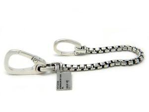 David Yurman Streamline Key Chain Sterling Silver NWT