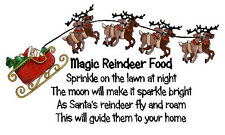 Magic Reindeer Food Stickers x 42 - Design #3 - Santa Sleigh Reindeer design
