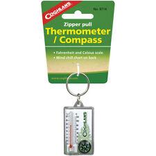 Coghlan's Cremallera Tirar termómetro e Brújula Llavero, sensación Gráfico, Supervivencia