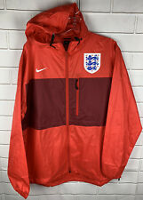 Nike England National Team Soccer Football Full Zip Hood Jacket Size Large Red