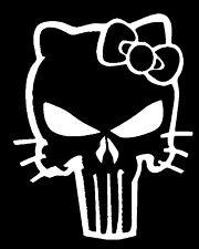 "HELLO KITTY PUNISHER  Vinyl Decal Sticker LARGE 10""H X 7""W   ""Buy 2 get 1 Free"""