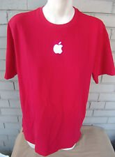 Apple Red Genius Bar Employee Knit Shirt Large Embroidered
