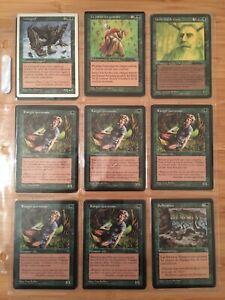 MTG Lot 80  Cartes Vert Magic Played