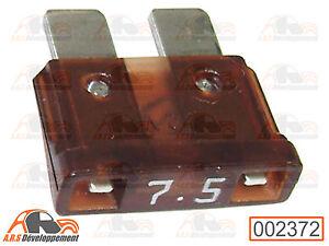 2 FUSIBLES 7,5 ampères (7,5A FUSE) pour Peugeot 205 309 405 605  -2372-