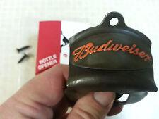 BUDWEISER WALL MOUNT BOTTLE CAP OPENER BAR WARE PICNIC COOLER Hot Rod Man Cave