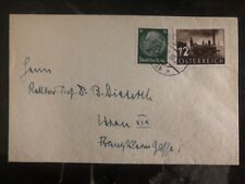 1938 Vienna Austria Mixed Frank Cover Locally Used