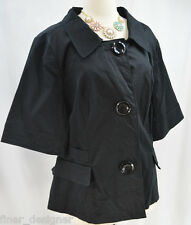 Lane Bryant stretch cotton short Sleeve light Blazer Jacket top suit coat SZ 26