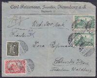DR Mi Nr. 159 b, 113, A 113 MiF Wertbrief, geprüft Winkler BPP, Naumburg 1921