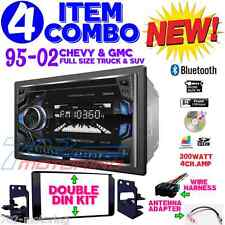 95-02 GM TRUCK/SUV CD SCREEN BLUETOOTH DOUBLE DIN CAR STEREO RADIO