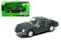 Welly 1:24 1964 Dark Grey Porsche 911 Diecast Model Sports Racing Car 24087GRY