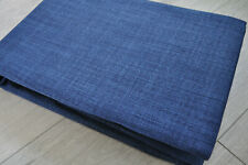 Linen look twilight,blackout ,ring top,Eyelet curtains,navy blue,size 46 x 54 in