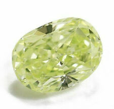 0.33 Carat Fancy Greenish Yellow Diamond GIA Certified Loose Natural Color Oval
