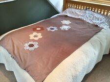 More details for old vintage retro patchwork mismatched floral single duvet cover & pillowcases