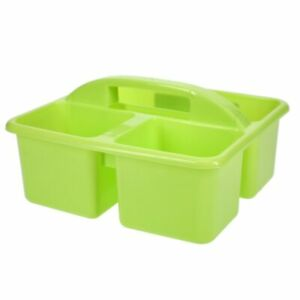 """Kids School Organizer Craft Caddy 3 Compartment 5x5x6.5"""" Stackable with Handles"""