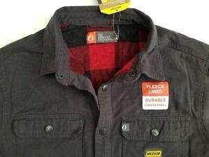 AMERICAN OUTDOORSMAN Black Canvas Jacket Size Medium M Fleece Lined NWT