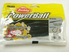 Berkley Powerbait 14cm Rib Snake 8pk ALL COLOURS Sea fishing tackle
