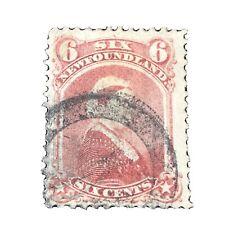 NEWFOUNDLAND, SCOTT # 35, 6c. VALUE DULL ROSE QV 1870 ISSUE. USED