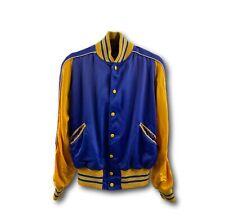 Vintage 50's 60's Butwin American Legion Kt. Crossen Post 21 Blue Satin Jacket