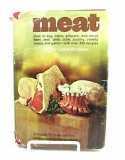 MEAT Vintage Cookbook Book 1971 The Lobel Brothers A Richardson LOW CARB Keto