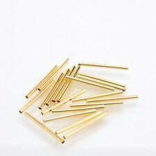 Gold Plated Tube Space Beads 25mm 20pc