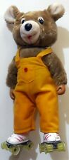 VINTAGE large doll  TOY PELUCHE SAMMY SKATE  TEDDY BEAR ROLLER 1990s