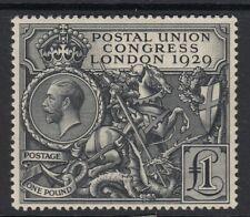 GB 1929 £1 Black SG438  Lightly Mtd Mint