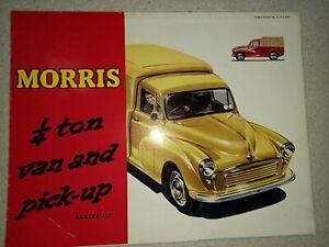 MORRIS 1/4 TON VAN AND PICK-UP - SALES BROCHURE 1960